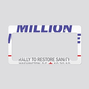 Million Moderate March Blue S License Plate Holder