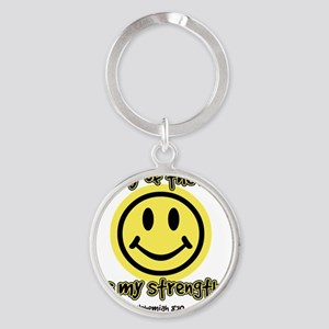 3-joyofLord Round Keychain