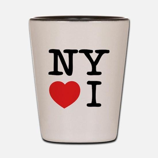 NY loves I Shot Glass
