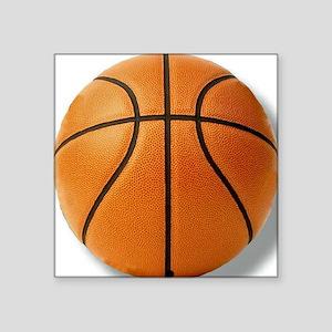 """basketballminibutton Square Sticker 3"""" x 3"""""""