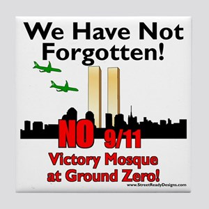 victory mosque we have not forgotten Tile Coaster