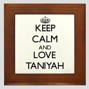 Keep Calm and Love Taniyah Framed Tile