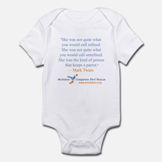 Twain Quote Front Infant Bodysuit