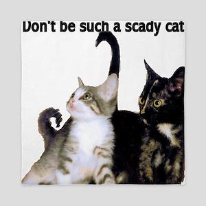 Scady cat Queen Duvet