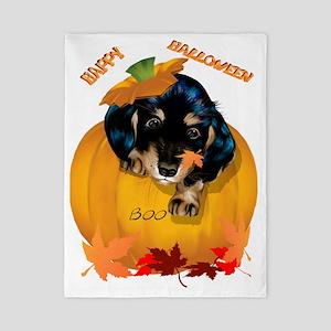 Dashund Puppy Halloween - Boo Trans Twin Duvet