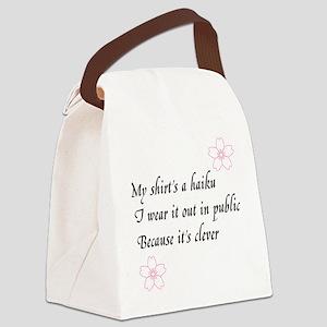 Haiku Shirt Canvas Lunch Bag