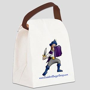 Cloak and Dagger Design Canvas Lunch Bag