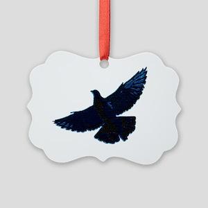 2-pigeonsquares Picture Ornament