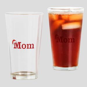 Christmas Mom Drinking Glass