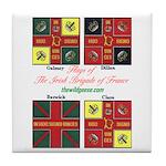 Flags/Irish Brigade France-Tile Coaster