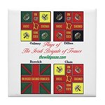 Flags/Irish Brigade France-Tile Coaster