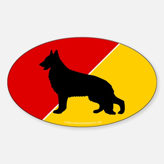 German Flag Shepherd Oval Decal