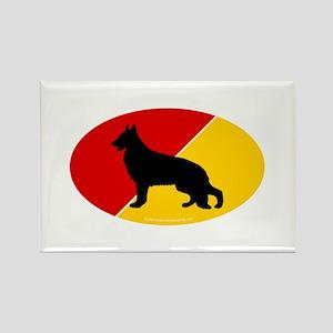 German Flag Shepherd Rectangle Magnet