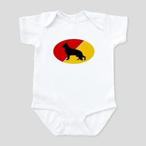 German Flag Shepherd Infant Bodysuit