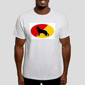 German Flag Shepherd Ash Grey T-Shirt