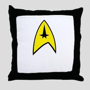 Star Trek Insignia- Black A Throw Pillow