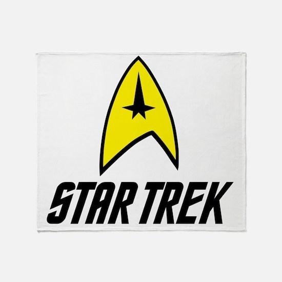 Star Trek Insignia- Black Throw Blanket