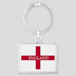NC English Flag- England Goudy  Landscape Keychain
