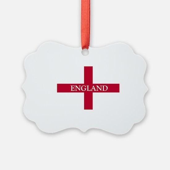 NC English Flag- England Goudy ol Ornament