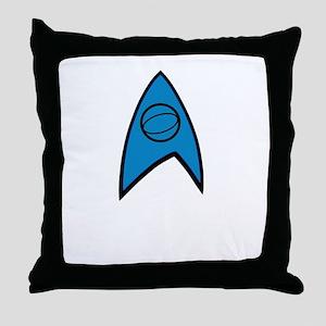 Star Trek Insignia Blue- Black A Throw Pillow