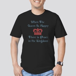 Queen is happy Men's Fitted T-Shirt (dark)