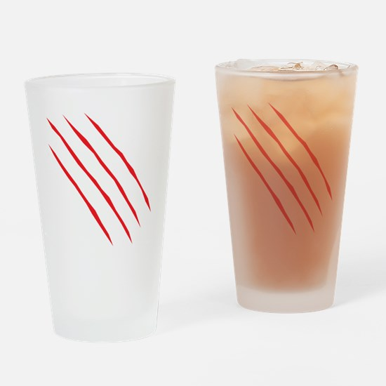 scartch2 Drinking Glass