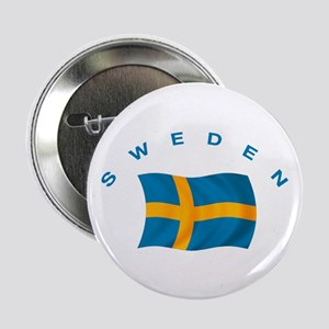 "Flag of Sweden 2.25"" Button"