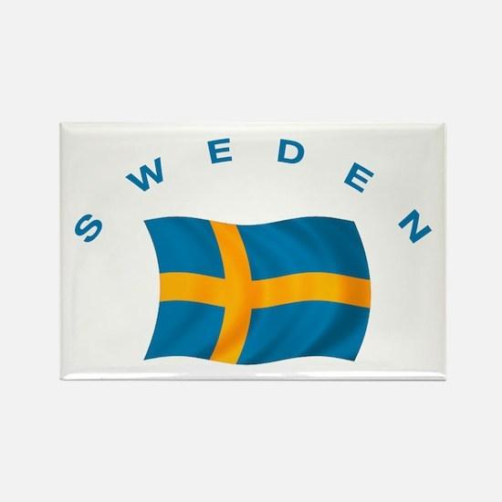 Flag of Sweden Rectangle Magnet