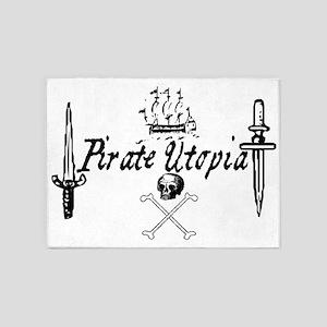 pirate utopia 5'x7'Area Rug
