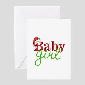 Christmas Baby Girl Greeting Cards