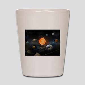 The Solar System Shot Glass