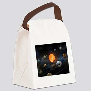 The Solar System Canvas Lunch Bag