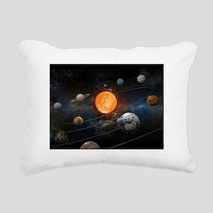 The Solar System Rectangular Canvas Pillow