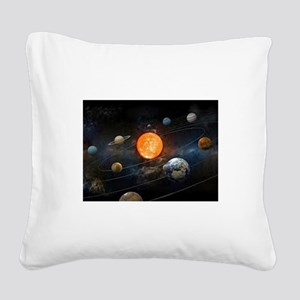 The Solar System Square Canvas Pillow