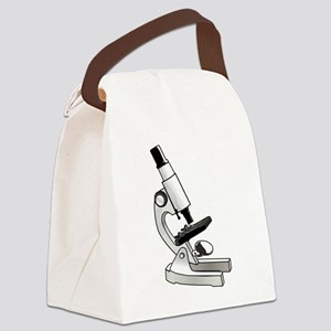 Microscope Canvas Lunch Bag