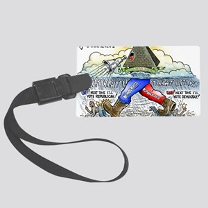 march_of_tyranny Large Luggage Tag