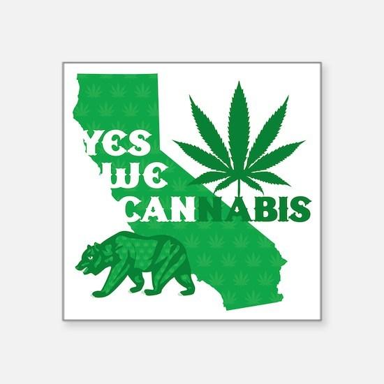 "yesweCANnabis Square Sticker 3"" x 3"""