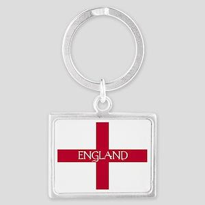 PC English Flag - England Mil Landscape Keychain