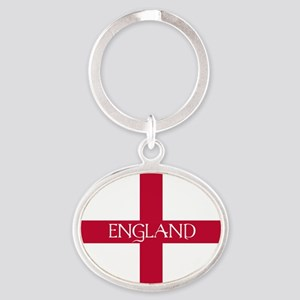 PC English Flag - England Mil Oval Keychain