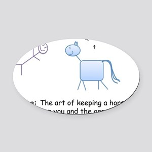 Riding: the art of keeping a horse Oval Car Magnet