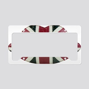 Union-Jack-Lips -to edit- License Plate Holder