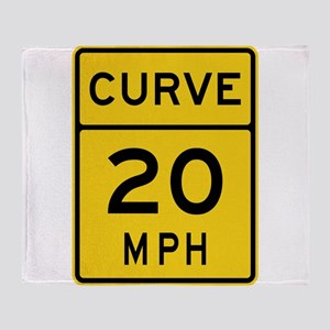 Curve 20 MPH Sign Throw Blanket