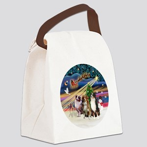 Xmas Magic - Aussie Shepherds (th Canvas Lunch Bag