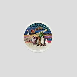 Xmas Magic - Aussie Shepherds (three) Mini Button