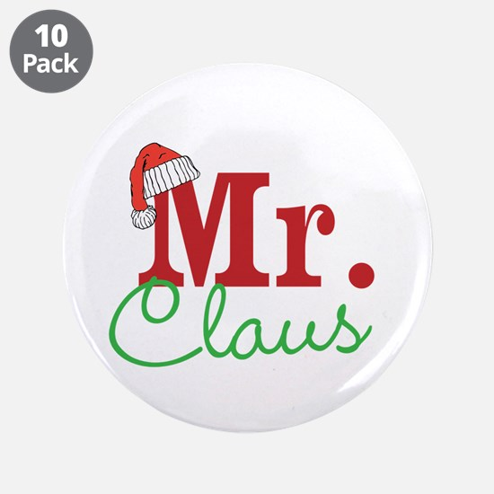 "Christmas Mr Personalizable 3.5"" Button (10 pack)"