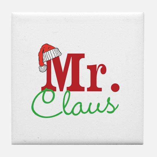 Christmas Mr Personalizable Tile Coaster