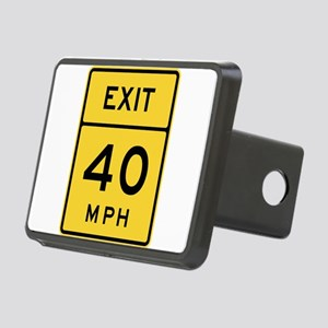 Exit 40 MPH Sign Hitch Cover