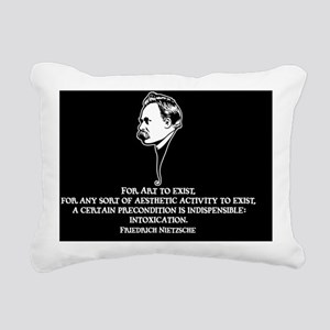 Nietzsche-art-1-OV Rectangular Canvas Pillow
