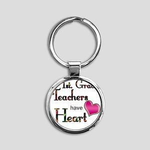 Teachers Have Heart 1 Round Keychain