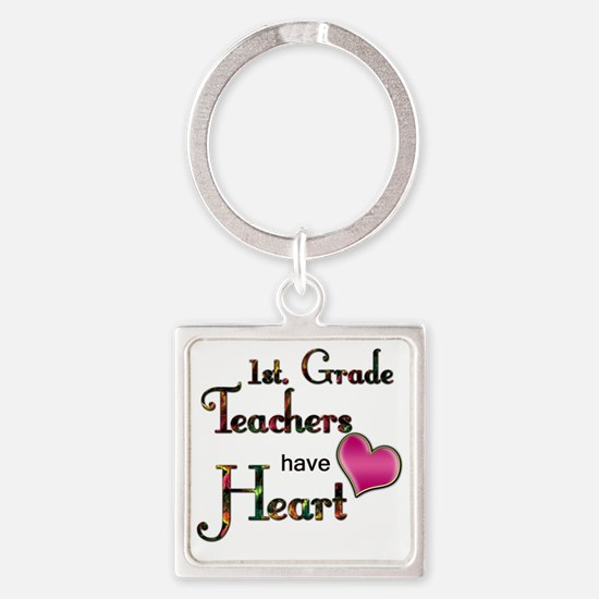 Teachers Have Heart 1 Square Keychain